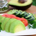 avocado,tomato and cucumber salad