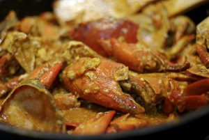 chili crab, signature dish of Singapore