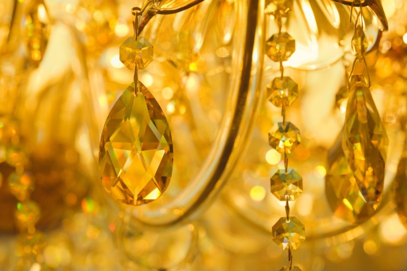 Crystals of a very beautiful chandelier
