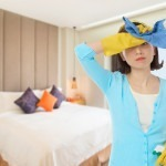 Cleaning the Bedroom with Your Live-in Maid