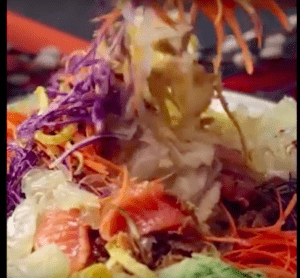 Yu Sheng: Food for Good luck in Chinese New Year